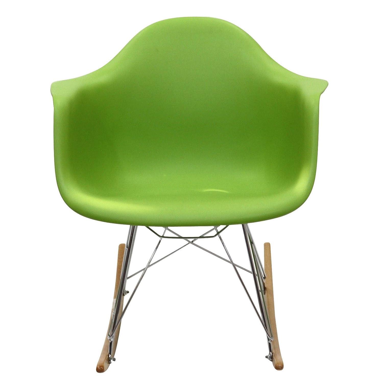 Amazon.com: Modway Molded Plastic Armchair Rocker In Green: Kitchen U0026 Dining