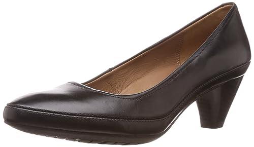 Clarks /'Denny Mellow/' Ladies Black Leather Shoes