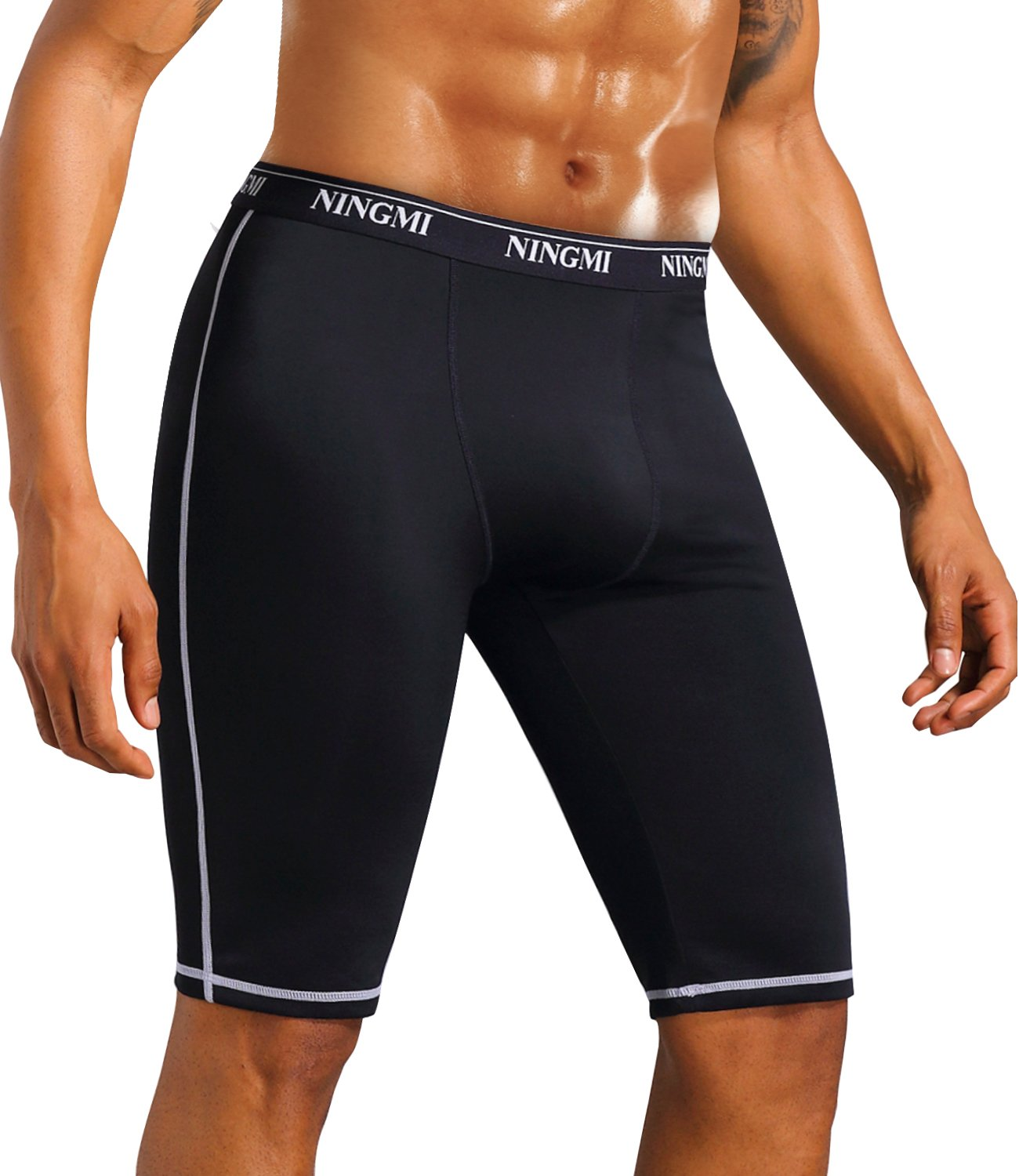 NINGMI Mens Running Compression Workout Shorts Gym Active Pants Quick Dry Sports Tights Jammers Swimsuits SFNMBMR09001