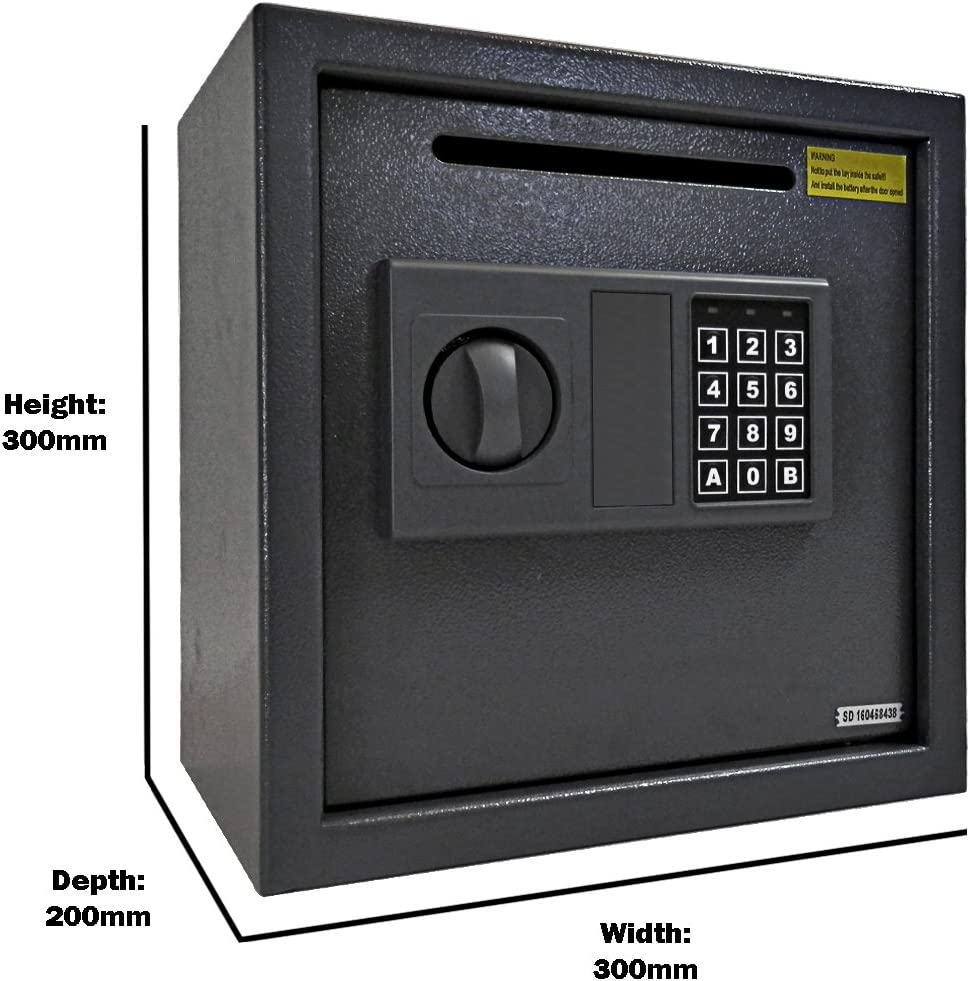 display4top Caja fuerte electr/ónica 310x200x200