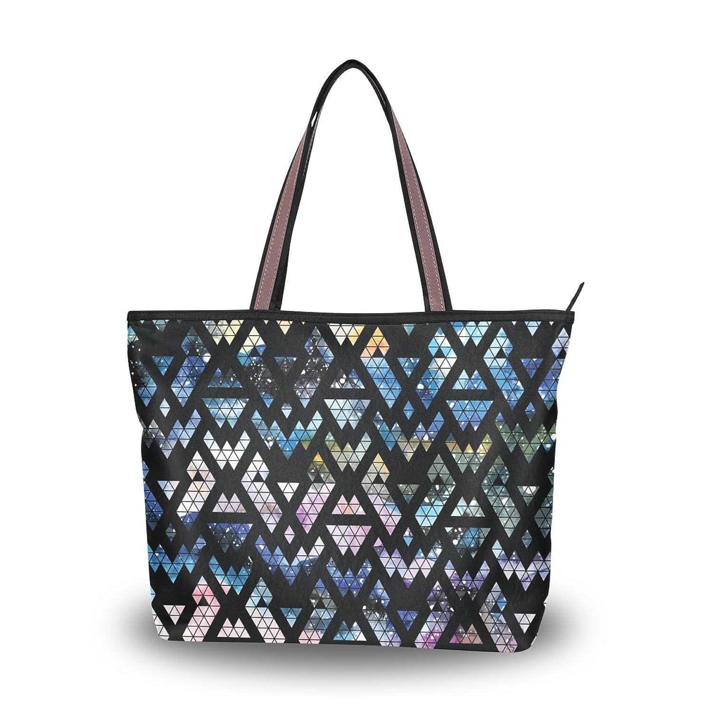 Senya Women's Handbag Microfiber Large Tote Shoulder Bag, Tribal Galaxy