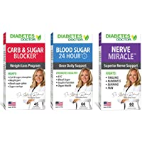 Diabetes Doctor Complete 3 in 1 Bundle - Daily Support, Nerve Health & Mealtime Carb & Sugar Blocker - Insulin & Healthy Weight Support - 1 Month Supply