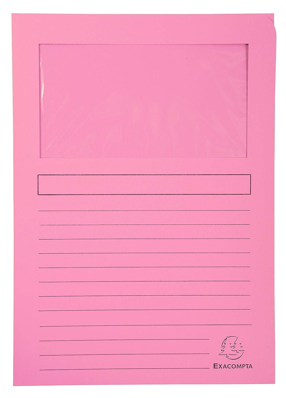 10 Colores Surtidos Exacompta 50450E Lote de 10 Subcarpetas Super 180 con Ventana e Impresas