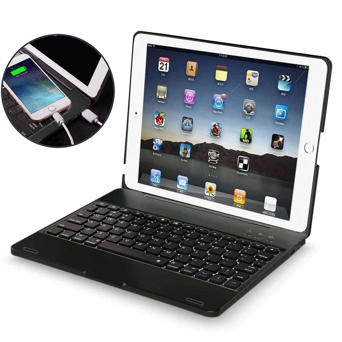 最愛 iPad 2 3 4 キーボードケース - iPad 4ケース 2 iPad 3 - 4ケース ワイヤレス/BTキーボード付き - iPad 2 3 4ケース Powerbank[2800mAh] - iPadキーボード 第2 第3 第4世代ケース - ハードクラムシェル保護カバー for iPad 2/3/4 ブラック H10 for iPad 2/3/4丨Black B07Q3K6GQS, アクセサリーショップfarice:14c64b65 --- a0267596.xsph.ru