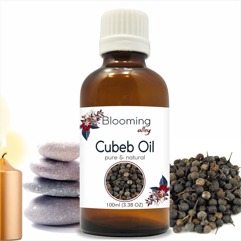 Cubeb Oil(Piper Cubeba) Essential Oil 100 ml or 3.38 Fl Oz by Blooming Alley B07F12KF74  100ML