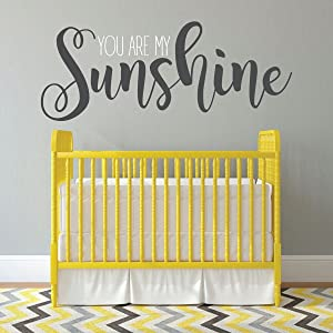 Nursery Wall Decor - You Are My Sunshine - Vinyl Decal For Children's Bedroom, Playroom or Study Room