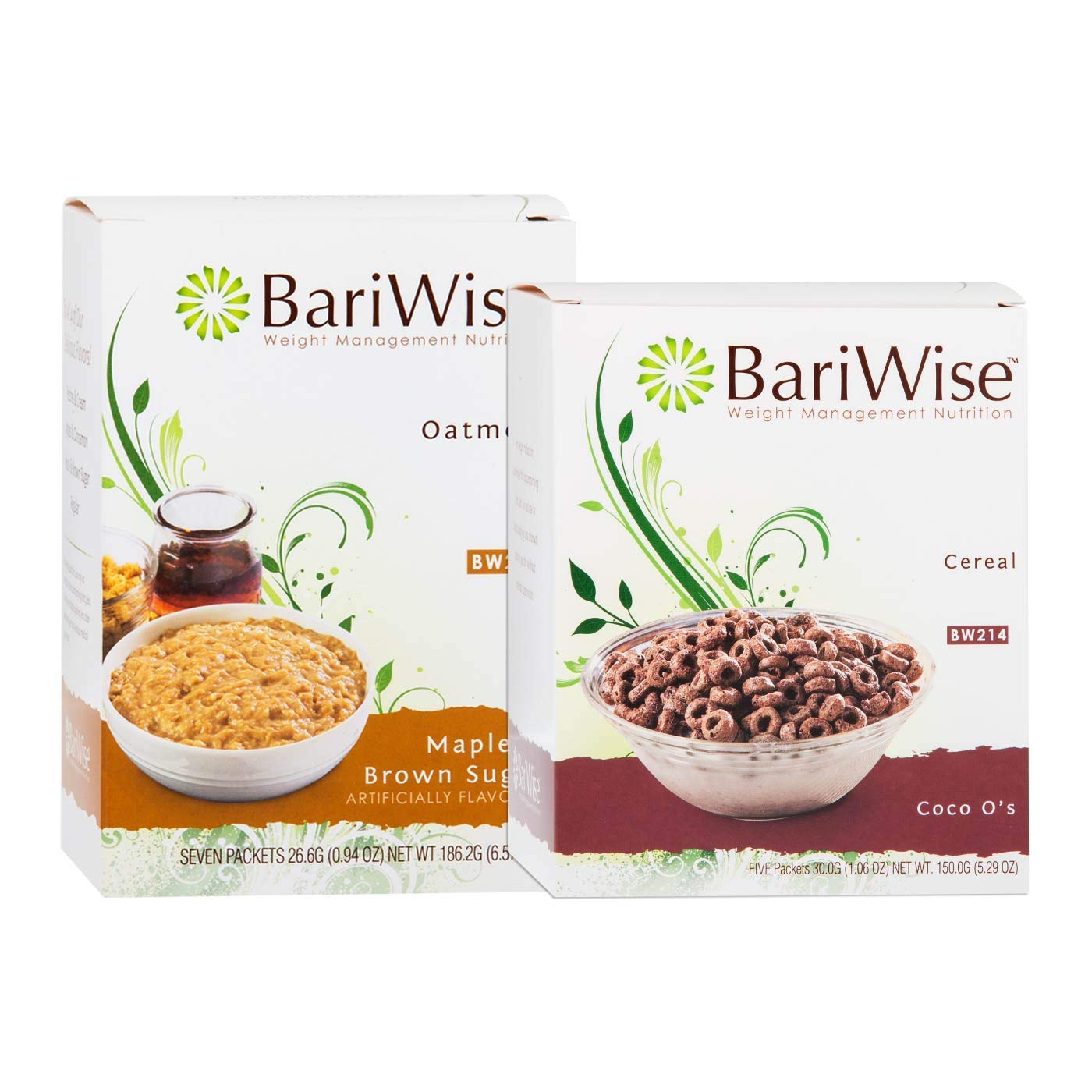 BariWise Maple & Brown Sugar Protein Oatmeal and Coco Os Protein Cereal Bundle