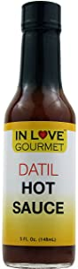 In Love Gourmet Datil Pepper Hot Sauce 5 fl. oz. Datil Pepper: The St. Augustine Surprise, Delicious Mild Datil Pepper Sauce