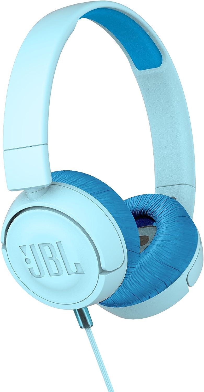 Amazon Com Jbl Jr 300 On Ear Headphones For Kids Blue Electronics