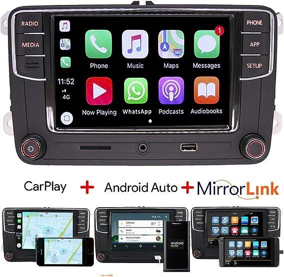 Scumaxcon Rcd330 Autoradio Carplay Android Auto Bt Aux Rvc Usb Für Vw Golf Passat Polo Caddy Eos Cc Auto