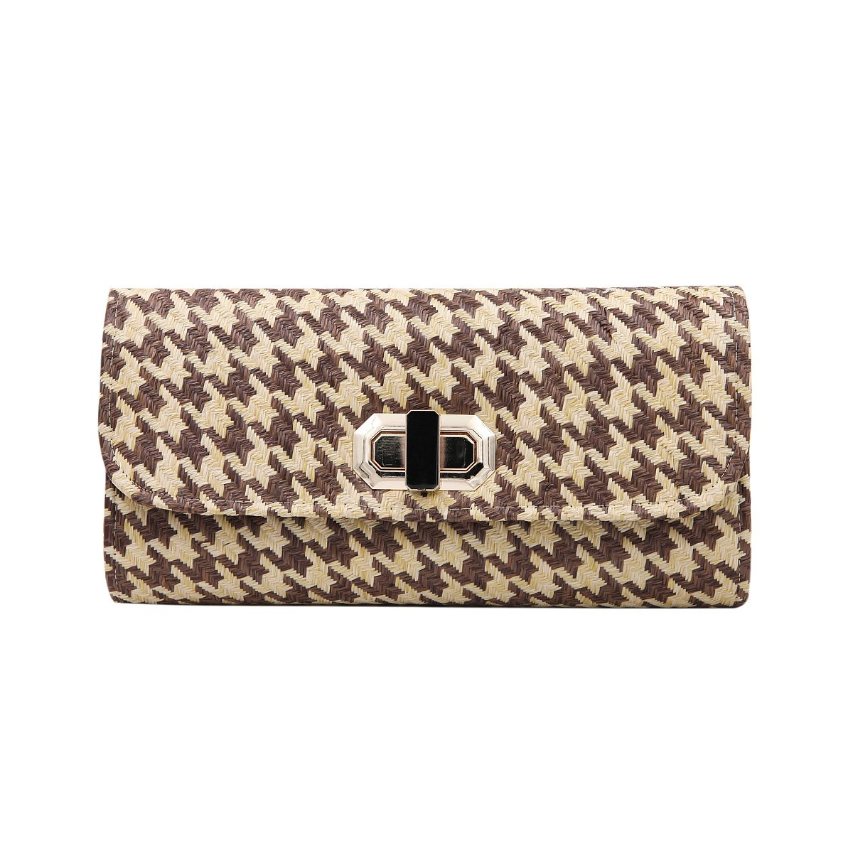 Houndstooth Turnlock Flap...