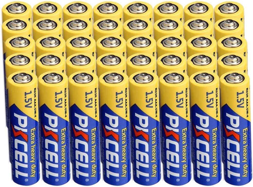 Amazon Com Aaa Battery 1 5v R03p Um4 Heavy Duty Battery For Infrared Forehead Thermometer 40pcs Home Audio Theater
