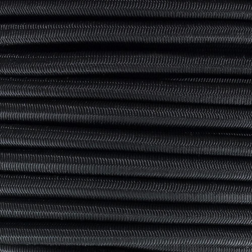 1//8 Inch x 25 Feet Golberg Black Diamond Weave Shock Cord Bungee Cord