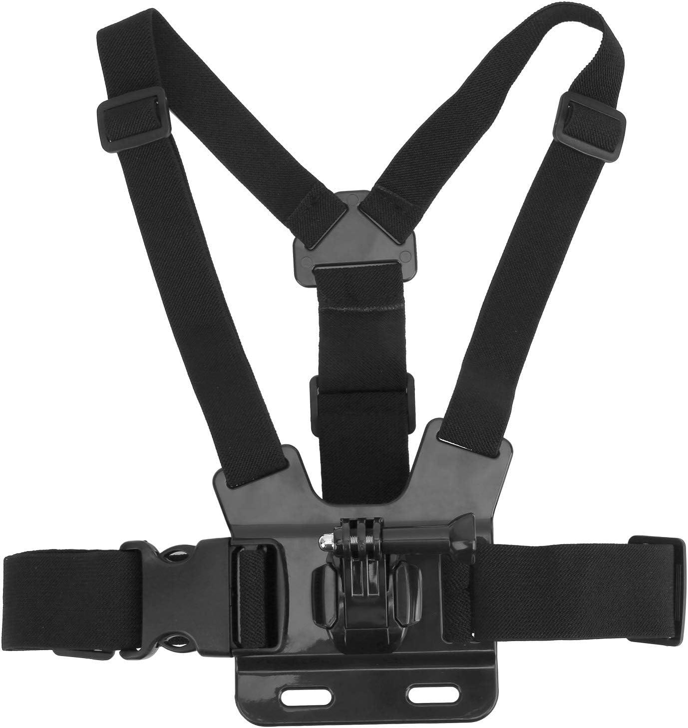 Cinturón de Montaje con Correa para el Pecho de la cámara, Bandas elásticas Ajustables para el Pecho de la cámara de 4 Puntos para dji OSMO Action para el arnés de Montaje en el Pecho Gopro 9
