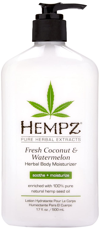 Hempz Herbal Body Moisturizer, Fresh Coconut/Watermelon, 17 Fluid Ounce 110-2153-03