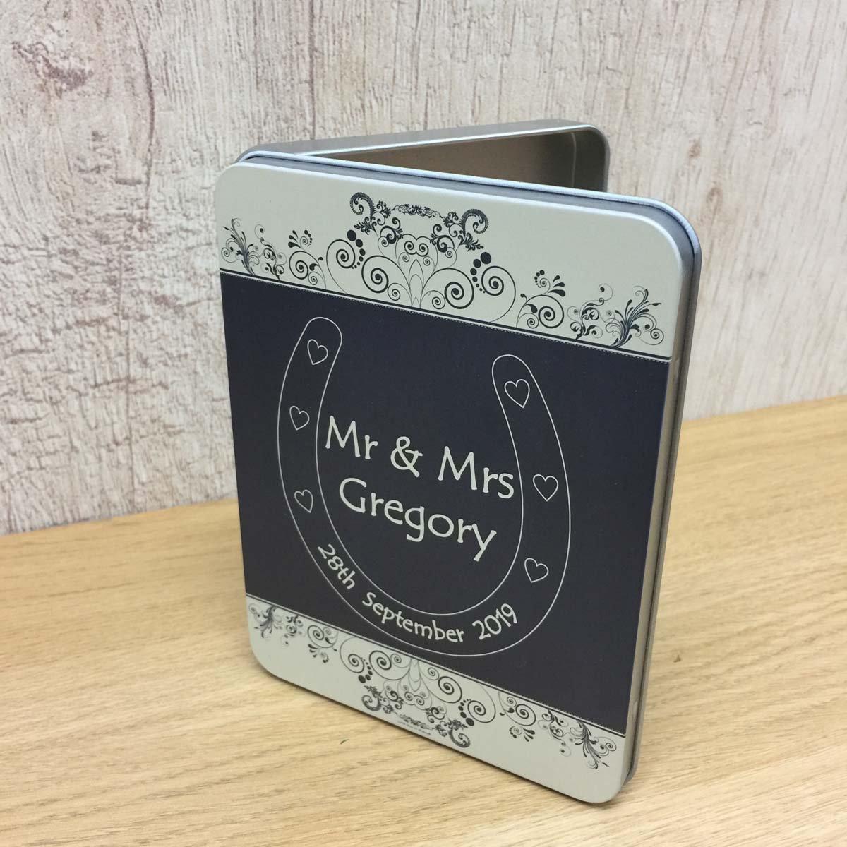 Lucky horse shoe wedding mr and mrs keepsake gifts east of india FREE POSTAGE UK