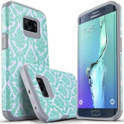 Amazon.com: Carcasa para Galaxy S7 Edge, protección de doble ...