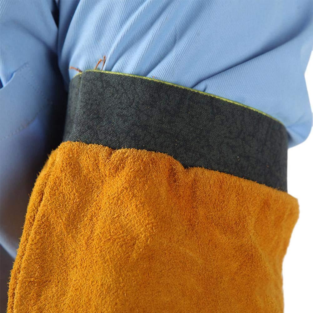 Manicotto Saldatore Taglienti Fiamme Bracciale Protettivi Produzione Vetro Blu Elastico