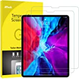 JETech 2-Pack Screen Protector for iPad Pro 12.9-Inch (2020 and 2018 Model, Release Edge to Edge Liquid Retina Display), Face