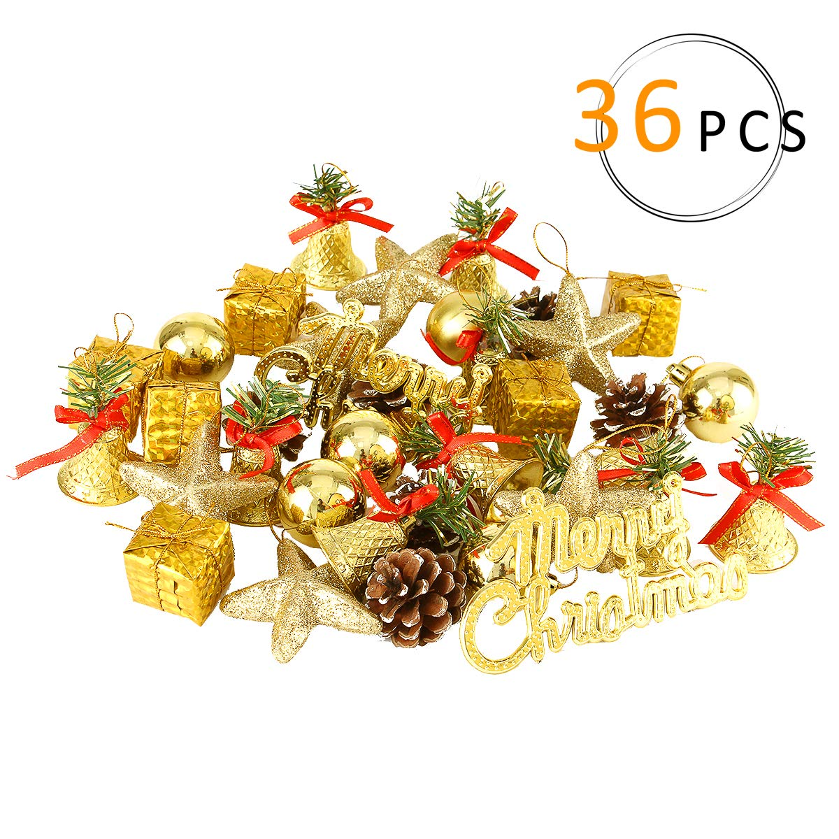 Amazon Com Anphsin 36 Pieces Christmas Mix Ball Ornaments Variety