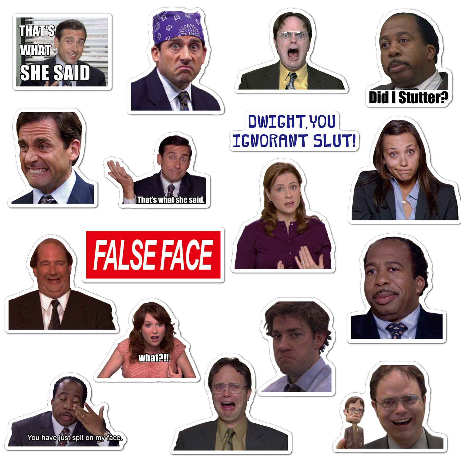 The Office Sticker Pack of 50 Stickers, Funny Office Laptop Stickers, Waterproof Vinyl Stickers for Water Bottle, Hydro Flask, Computer