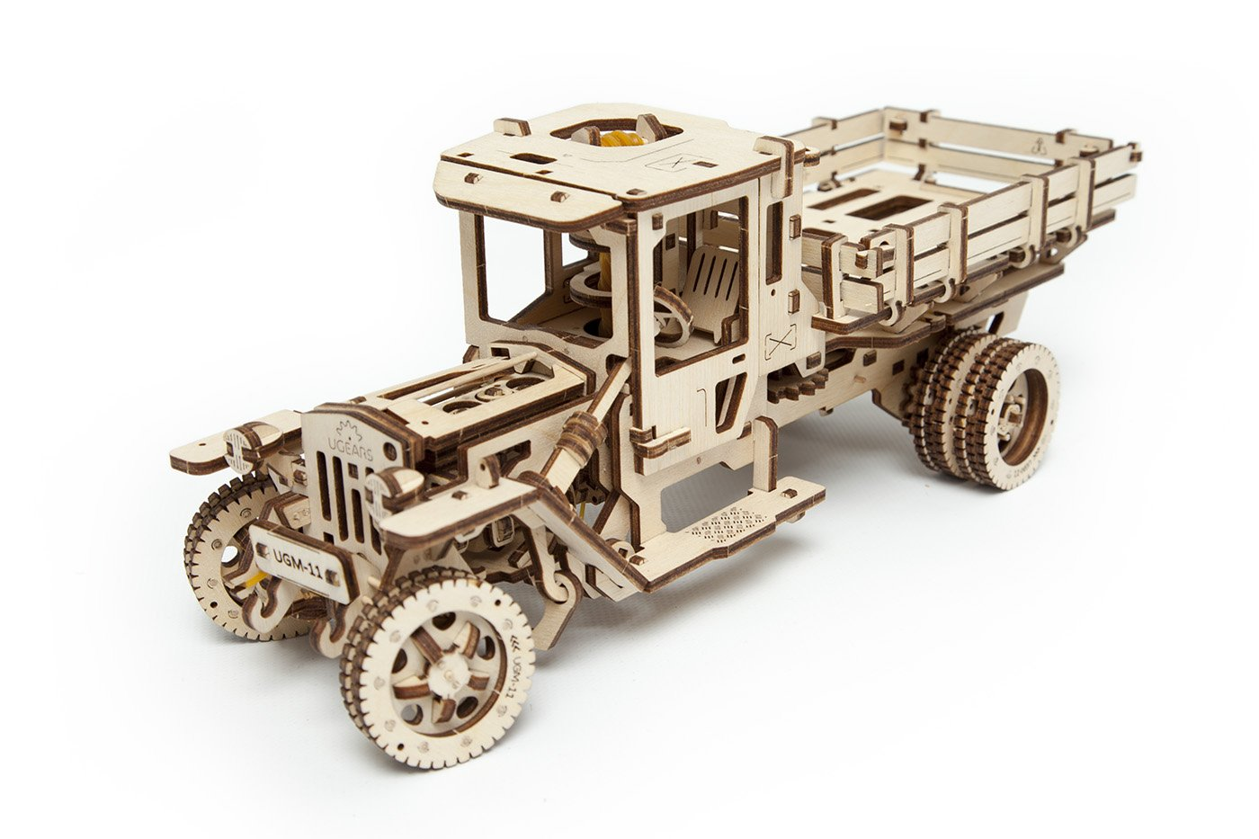 S.T.E.A.M. Line Toys UGears Mechanical Models 3-D Wooden Puzzle - Mechanical 11 Truck 1920's Model T 3