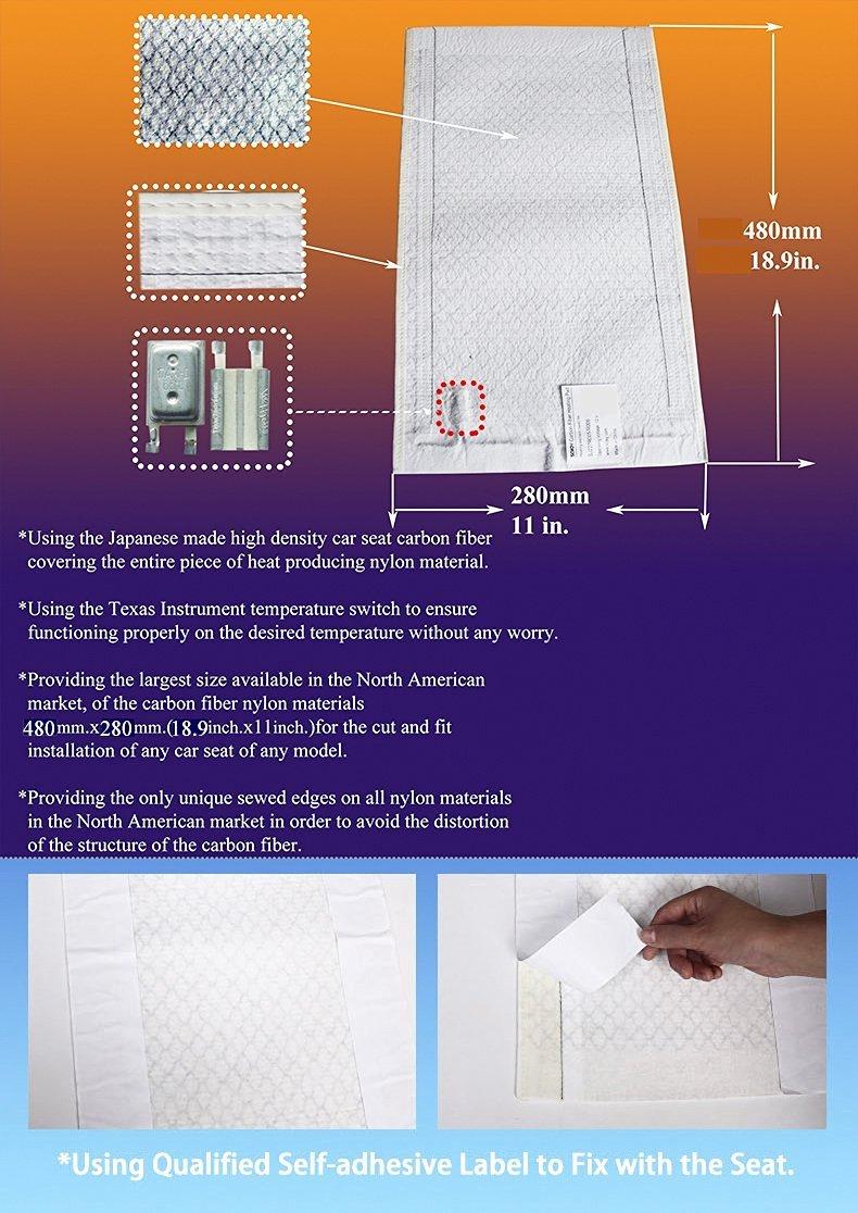 Kits de sojoy inserto de fibra de carbono universal climatizada calentador de asiento redondo grande - 2 asientos: Amazon.es: Coche y moto