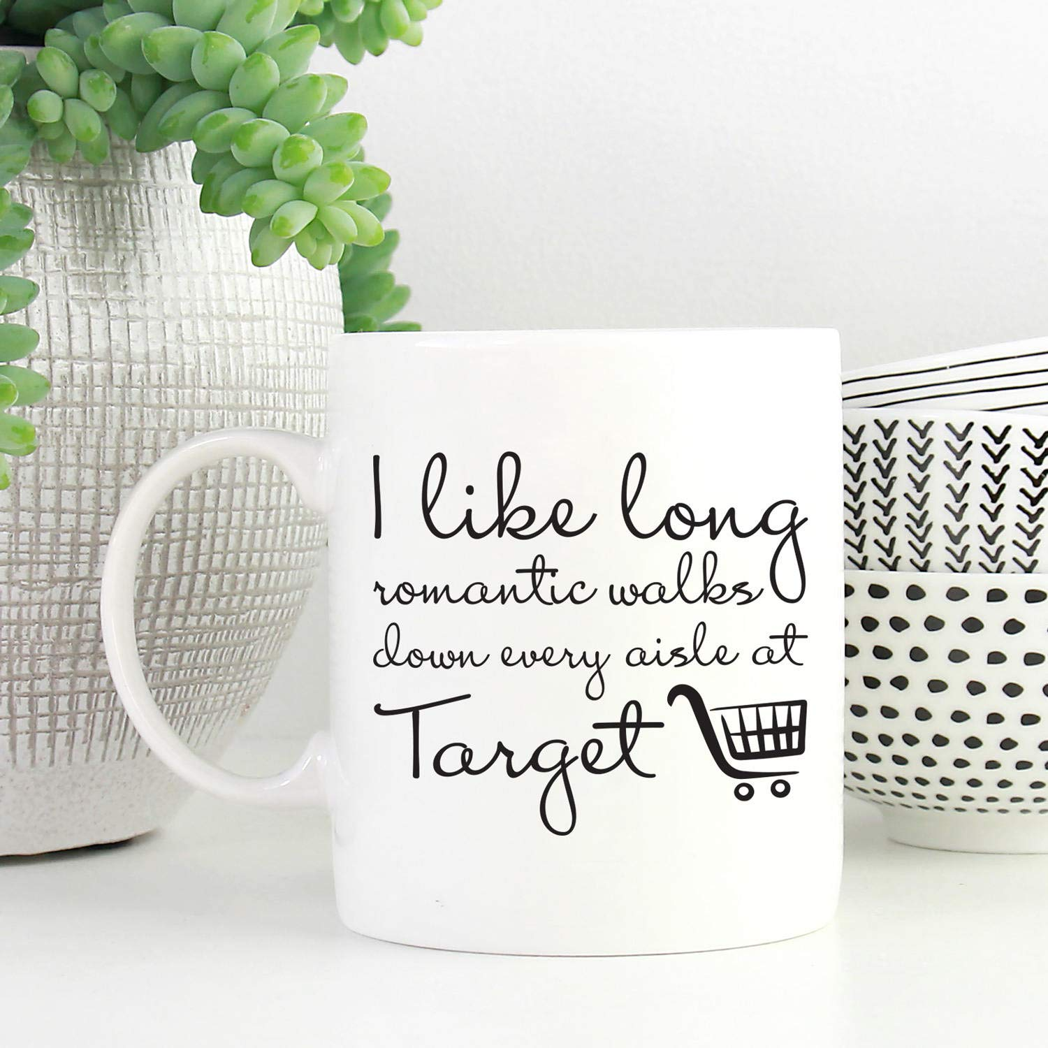 Amazon I Like Long Romantic Walks Down Every Aisle At Target Mug Coffee Gift For Mom Best Friend Gifts Her Kitchen