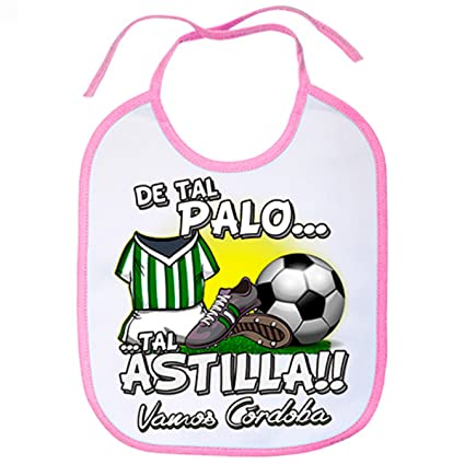 Babero De tal palo tal astilla Córdoba fútbol - Rosa