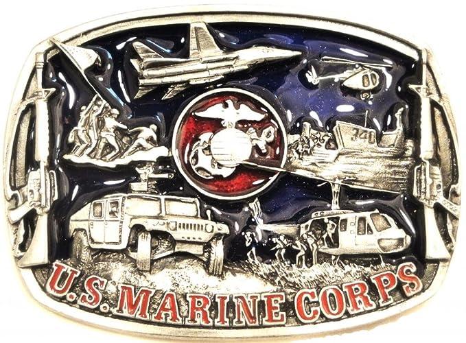 Amazon Us Marine Corps Usmc Pewter Belt Buckle Made In Usa