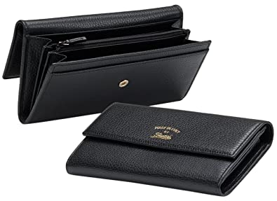 43e4beeec25 Amazon.com  Gucci Women s Black Swing Leather Snap Closure Continental  Wallet  Shoes