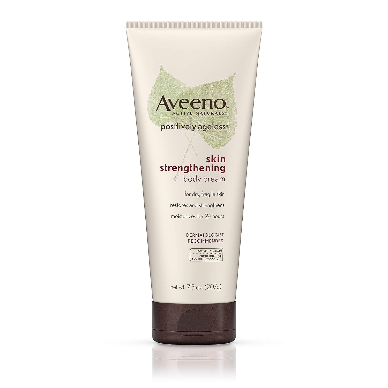 Aveeno Positively Ageless Skin Strengthening Body Cream, Moisturizes For 24 Hours 7.3 Oz