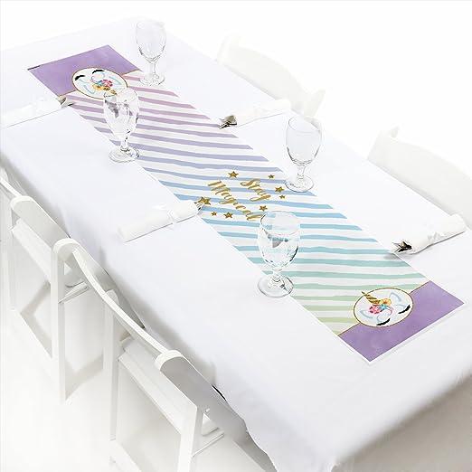Camino de mesa de unicornio arcoíris – Pequeño unicornio mágico ...