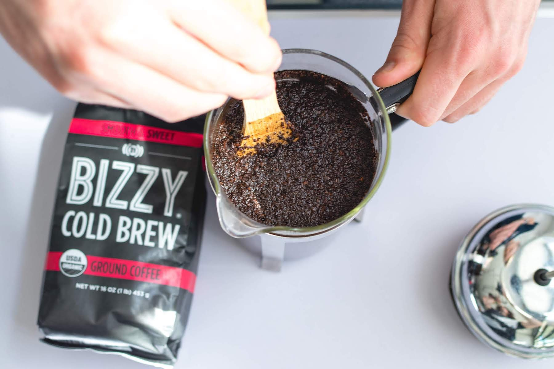 Bizzy Organic Cold Brew Coffee - Smooth & Sweet Blend - Coarse Ground Coffee - 1 Pound by Bizzy (Image #6)