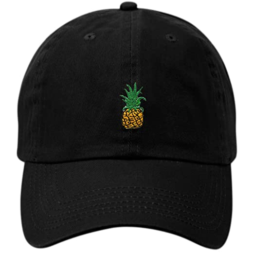 77bb9a2f Pineapple Dad Hat Baseball Cap Polo Style Unconstructed (BLACK) at ...