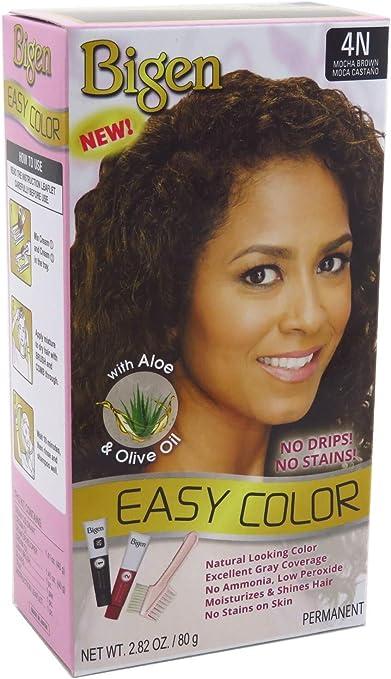 Bigen - Tinte permanente para el pelo con aloe y aceite de oliva, color marrón