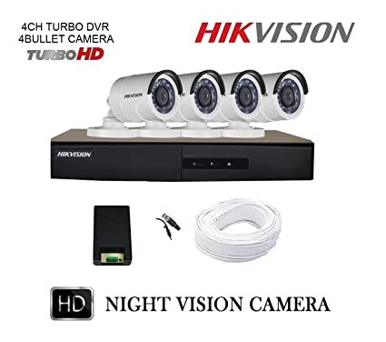 Hikvision 4 CCTV Cameras (Night Vision) & 4 Channel DVR Standalone Kit