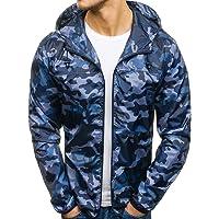 WuyiMC Mens Camouflage Slim Pocket Fit Hoodies-Autumn Winter Zip Casual Hoodies Jacket Coat