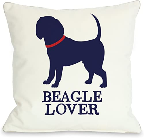 One Bella Casa Beagle Lover Throw Pillow, 18 by 18-Inch