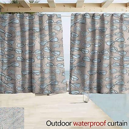 Amazon.com : MaryMunger Outdoor Blackout Curtains Retro ...