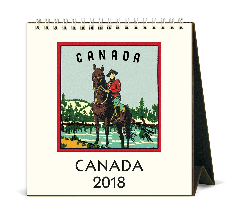 Cavallini CAL18-22 Canada 2018 Desk Calendar Cavallini & Co.