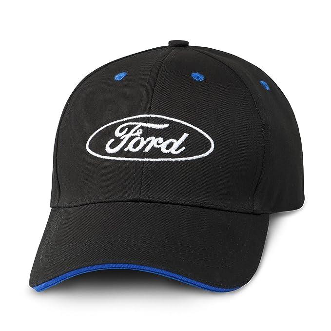 bdddb79ceb1 Amazon.com  Mustang Ford Oval Logo Blue Bill Insert Black Baseball ...