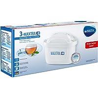 BRITA MAXTRA+ Su Arıtma Filtresi, Üçlü - Musluk suyunda bulunan kireç, klor gibi tat ve koku bozan maddeleri azaltan su filtresi, tek bir filtre 150 litre musluk suyu filtreler