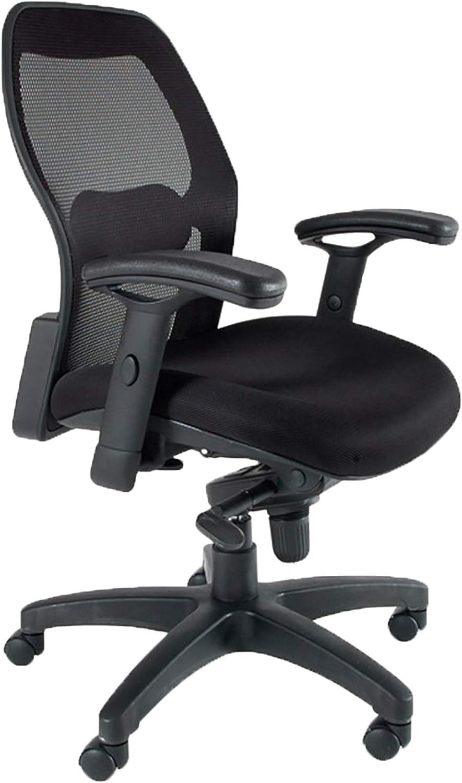 Amazon Com Mayline 3200 Mercado 3200 Mesh Back Task Chair With T Pad Arms Black Furniture Decor