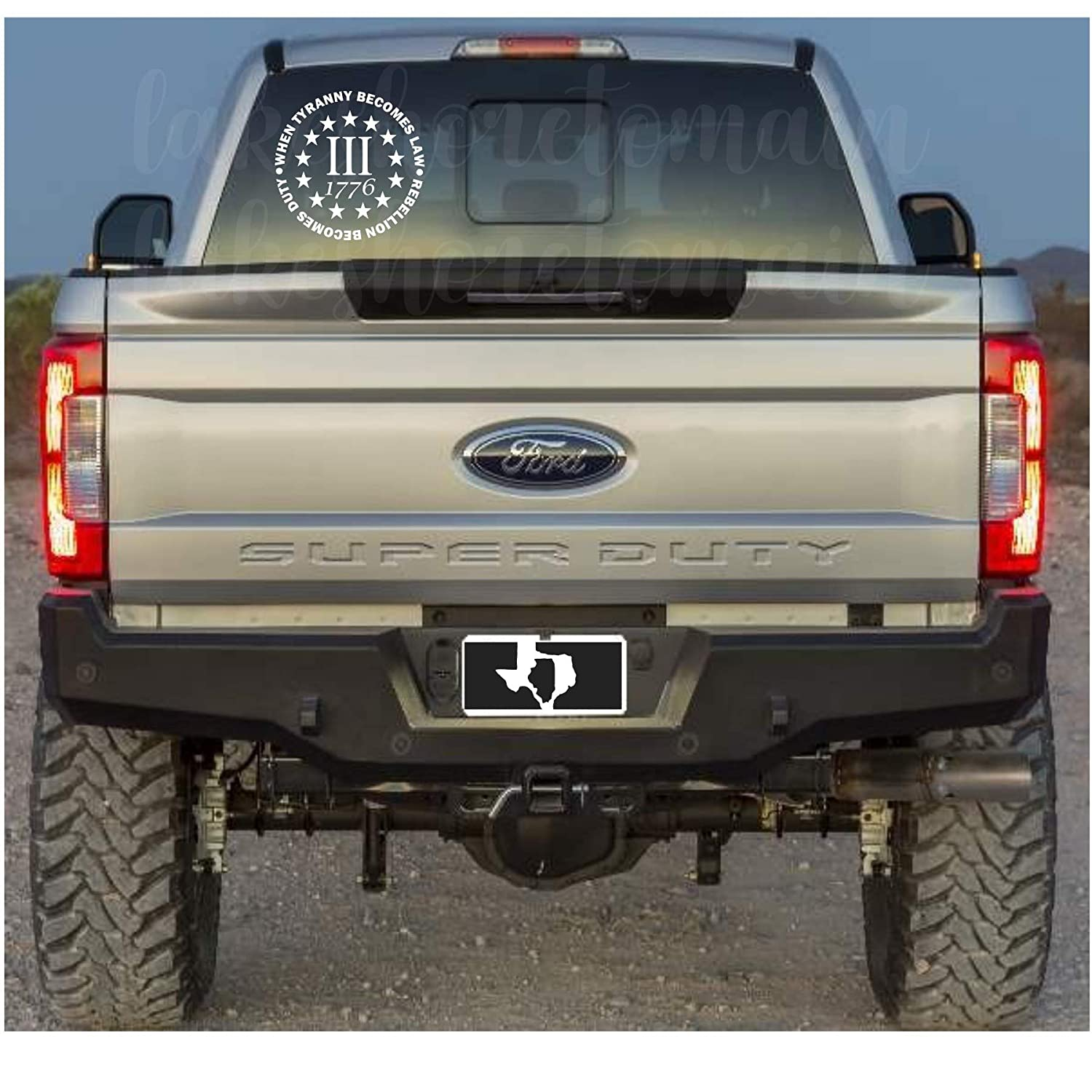 Three percent decal USA decal Southern decal
