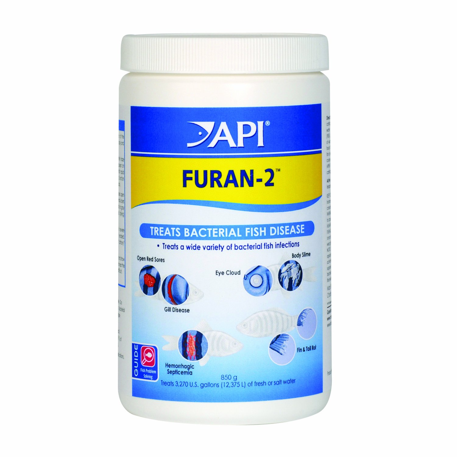 API FURAN-2 Fish Powder Medication 30-Ounce Bulk Box by API