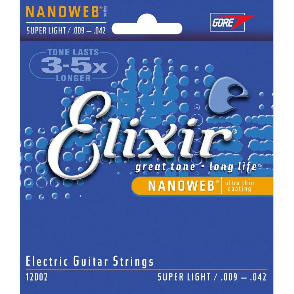 Elixir, Nanoweb - Recubrimiento de cuerdas para guitarra eléctrica: Amazon.es: Instrumentos musicales