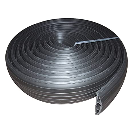Negro Rubber Piso Cable Protector 19 x 9.5mm Inner Channel 3 ...