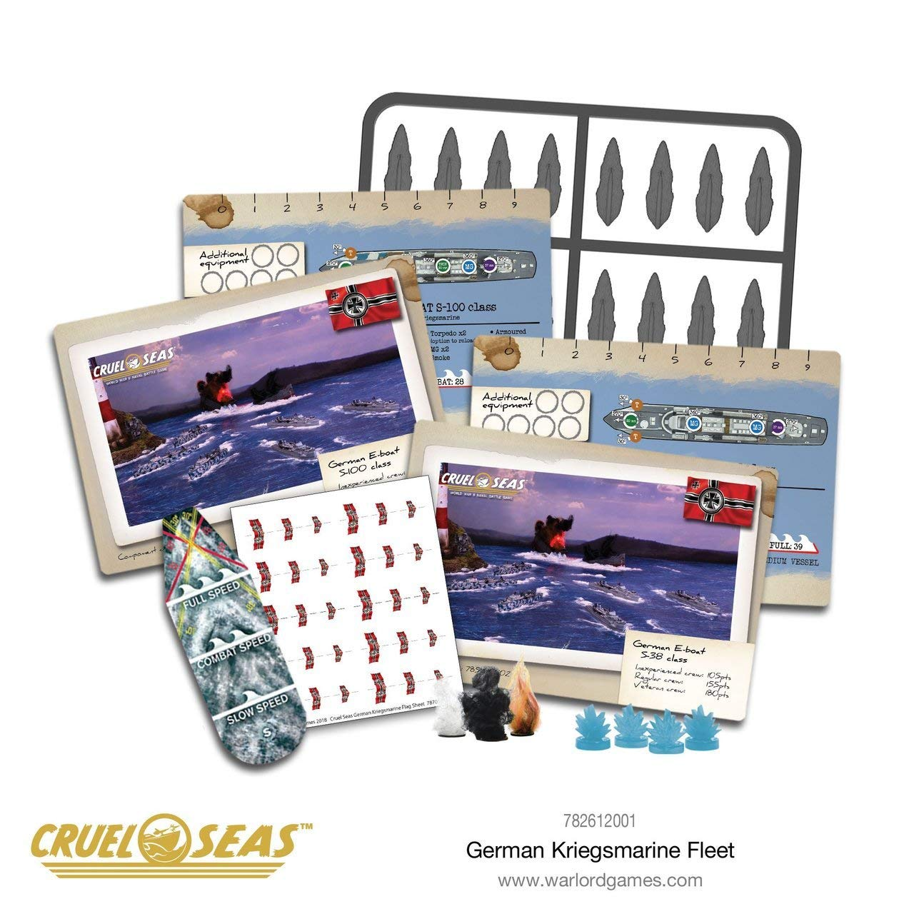 Cruel Seas German Kriegsmarine Fleet Starter Set, World War II Naval Battle Game ... by Cruel Seas (Image #7)