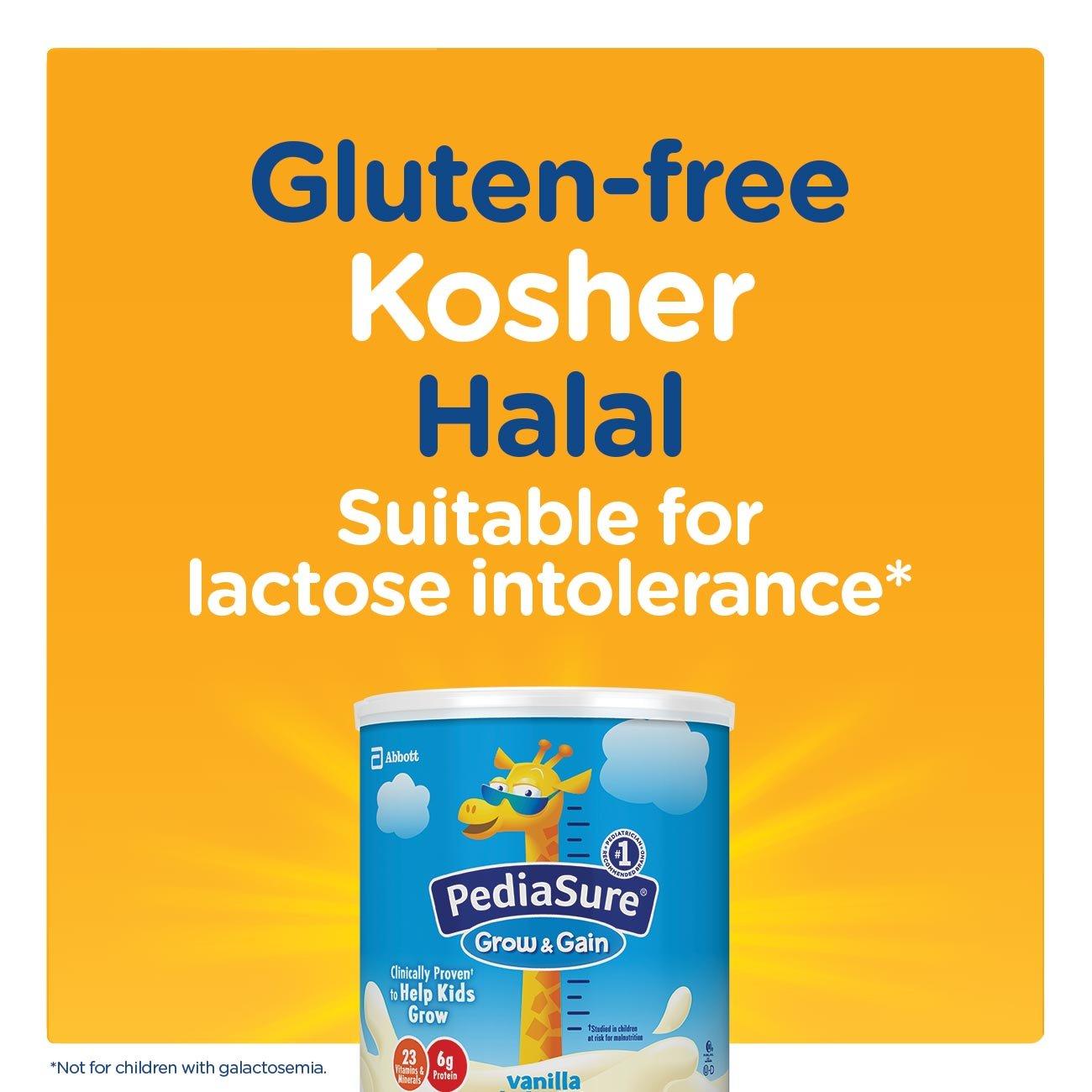 PediaSure Grow & Gain Non-GMO Vanilla Shake Mix Powder, Nutrition Shake for Kids, 14.1 oz, 3 Count by Pediasure (Image #10)